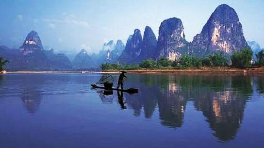 锐化清晰:桂林山水
