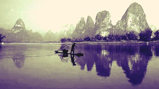 日落西山:桂林山水