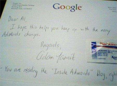 Google送阿司匹林给客户,忍受Adwords的改版
