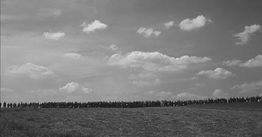 这是草原上的人群,而非树木!