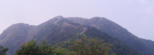 梧桐山·半山腰向上看的山路