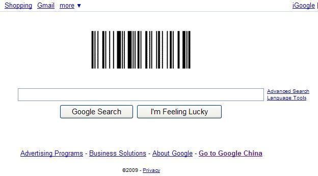 Google的条形码Logo